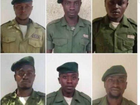 Les six gardes victimes de l'attaque